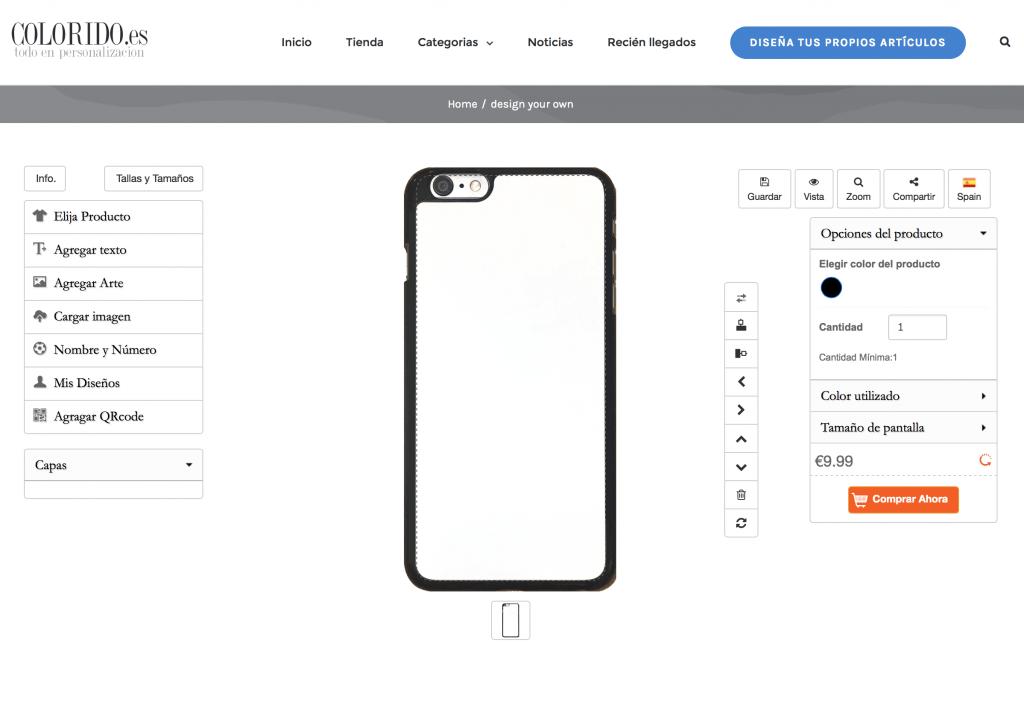 como personalizar la carcasa de tu móvil Creador de carcasas