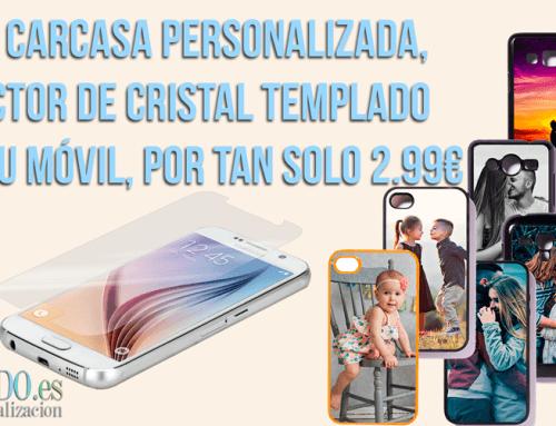 Con cada carcasa personalizada, llévate el protector de pantalla de cristal templado por tan solo 2.99€